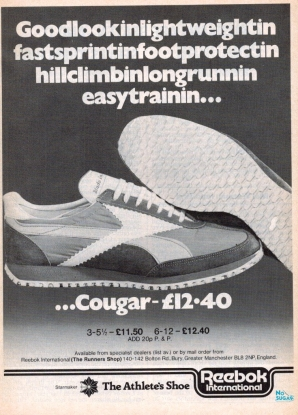 1977 Sept Reebok Cougar