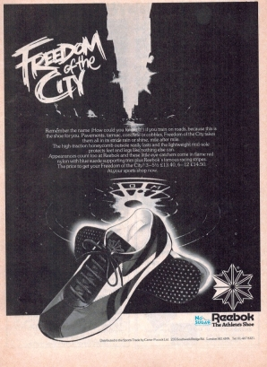1979 Reebok Freedom of the City