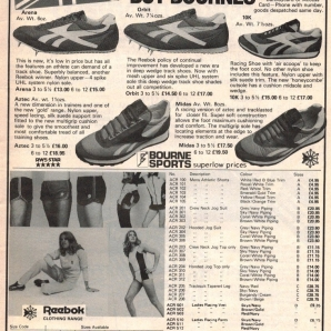 1980 Reebok Bournes Sports