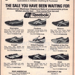 1980 Reebok Sports Centre Range