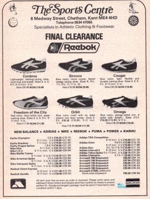 1980 Reebok The Sports Centre Range