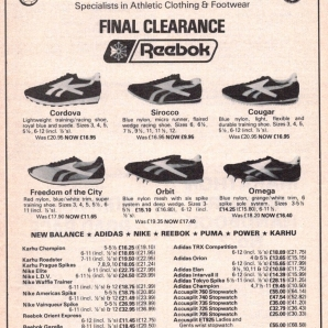 1980 Reebok The Sports Centre Range