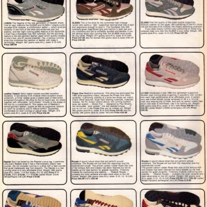 1986 Reebok Bournes Sports Range