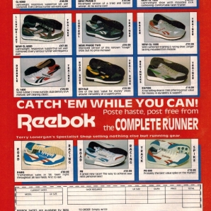 1987 Reebok Complete Runner Range