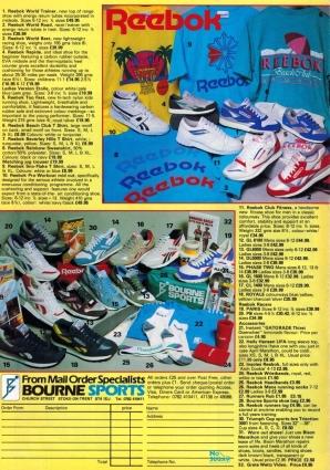 1988 Reebok Bournes Sports