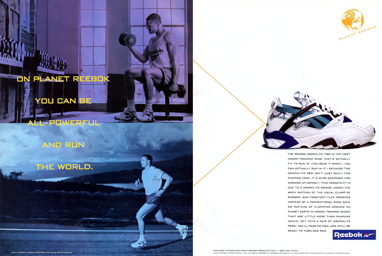 Dan O Brien – Reebok Graphlite Pro Cross Trainer 1993  bccaf219f