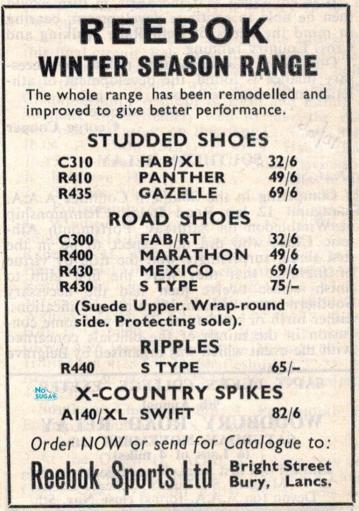 Reebok advert Dec 1967