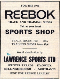 Reebok Distrubtor advert June 1970