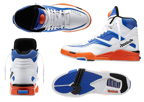 This fantastic Twilight Zone Pump in a New York Knicks inspired colourway  (aka White Tetra Blue Blazing Orange Black) is available now over at Reebok  USA. 832dfb039