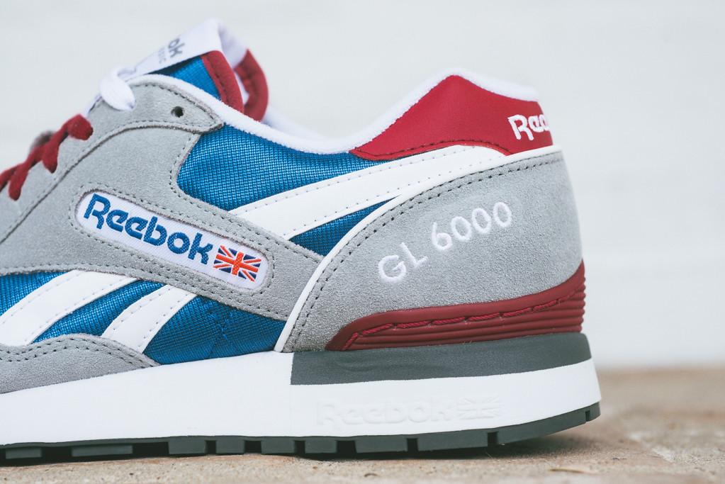 new concept d861a f7440 wholesale reebok gl 6000 grey blue red f7b39 4f071